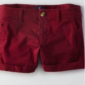 American Eagle Outfitters Twill Midi Shorts 12